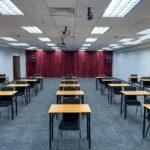 Single table classroom set up